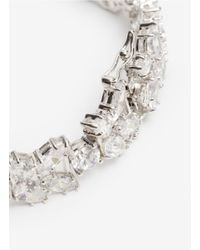 CZ by Kenneth Jay Lane White Oval-cut Crystal Bracelet