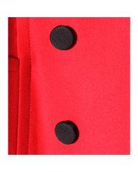 Dolce & Gabbana Red Minktrimmed Stretchwool Coat