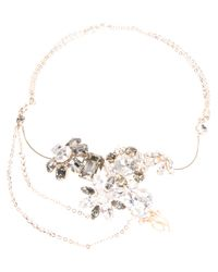 DSquared² - Metallic Floral Jewel Necklace - Lyst