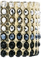French Connection - Metallic Sparkle Stretch Bracelet - Lyst