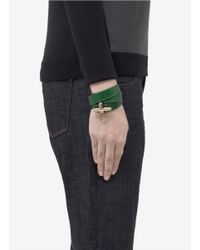 Givenchy | Green Obsedia Wrapped Leather Bracelet | Lyst