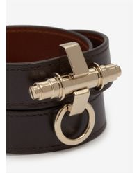 Givenchy | Metallic Obsedia Wrapped Leather Bracelet | Lyst