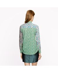 J.Crew | Green Liberty Boy Shirt in Mixed Prints | Lyst