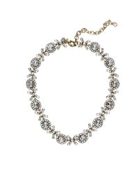 J.Crew White Crystal Floral Garland Necklace