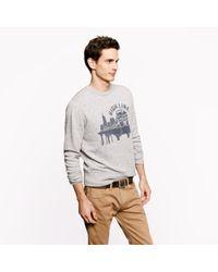 J.Crew Gray Jcrew For High Line New York Central Sweatshirt for men