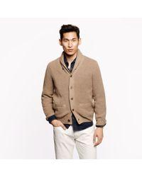 J.Crew Brown Cotton Shawl-collar Cardigan for men