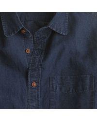 J.Crew Blue Slim Indigo Club-collar Shirt for men