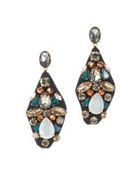 J.Crew | Blue Embroidered Jewel Earrings | Lyst