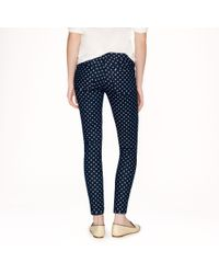 J.Crew Blue Toothpick Jean in Polka Dot