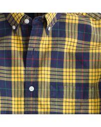 J.Crew Tartan Shirt in Sahara Yellow for men