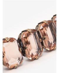 J.Crew - Orange Color Stone Bracelet - Lyst