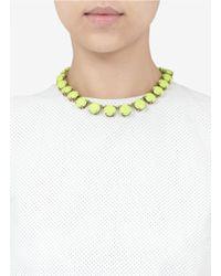 J.Crew | Yellow Neon Stone Necklace | Lyst