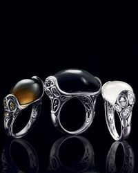 John Hardy | Black Sapphire, Black Chalcedony and Sterling Silver Ring | Lyst