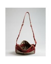 Kelsi Dagger Brooklyn - Red Leather and Snow Leopard Calf Hair Carter Convertible Crossbody Bag - Lyst