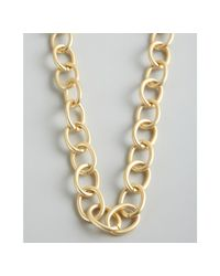 Kenneth Jay Lane | Metallic Gold Metal Chain Link Long Necklace | Lyst