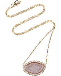 Kimberly Mcdonald | Gray 18karat Gold Geode and Diamond Necklace | Lyst