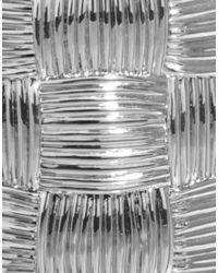 L.K.Bennett - Metallic Metal Basket Weave Cuff - Lyst