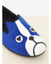 Marc By Marc Jacobs | Blue 'dog' Suede Slip-ons | Lyst