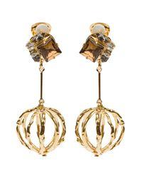 Marni | Metallic Dropped Gem Earrings | Lyst