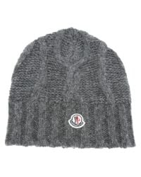 Moncler Gray Beretto Beanie