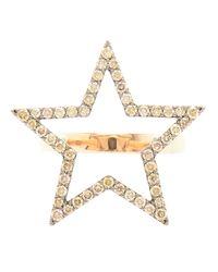 Rosa De La Cruz | Metallic Diamond Star Ring | Lyst