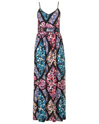 TOPSHOP | Multicolor Cutabout Floral Maxi Dress | Lyst