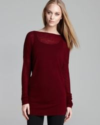 Vince Red Tunic Sweater Twisted