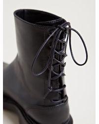 Yang Li Black Womens Rear Lace Boot