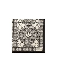 Alexander McQueen White Stained Glass Silk Scarf for men