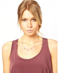 Laura Lee Metallic Asos Love Letter Charm Necklace
