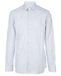 Ermenegildo Zegna Blue Spotted Shirt for men