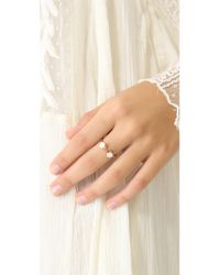 Ginette NY - White Mother Of Pearl Double Ring - Lyst