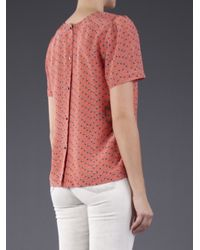 Girl by Band of Outsiders Orange Tulip Blouse