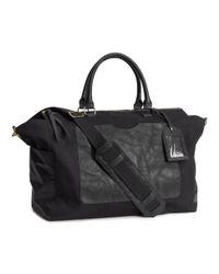 H&M Black Canvas Weekend Bag