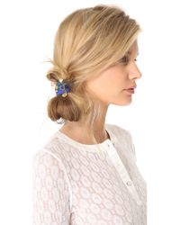 Marc By Marc Jacobs Blue Enamel Disc Cluster Pony Hair Ties