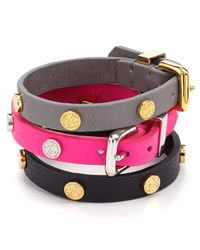 Marc By Marc Jacobs - Multicolor Turnlock Leather Wrap Bracelet - Lyst
