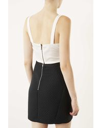 TOPSHOP White Embellished Lace Pinny Top