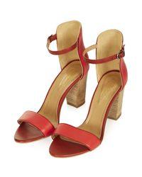 TOPSHOP Red Regina 2 Part Sandals