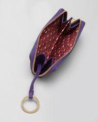 Tory Burch Purple Coin Case Robinson Zip