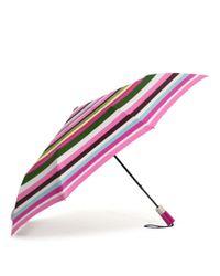 COACH Pink Legacy Stripe Umbrella