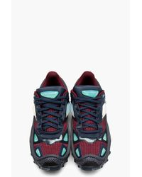 Raf Simons Multicolor Burgundy Mesh Adidas Edition Sneakers for men