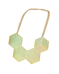 TOPSHOP | Green Sarah Angold For Freedom Four Hex Necklace | Lyst