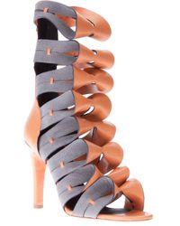 Balenciaga | Brown Two-tone Sandal Pump | Lyst