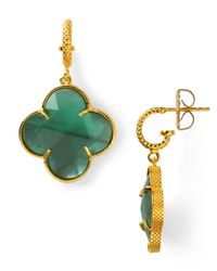 Coralia Leets - Green Mother Of Pearl Clover Earrings - Lyst