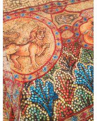 Dolce & Gabbana Orange Mosaic Print Scarf