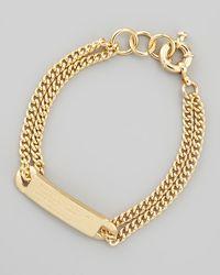 Marc By Marc Jacobs Metallic Chain Loop Standard Supply Bracelet Golden