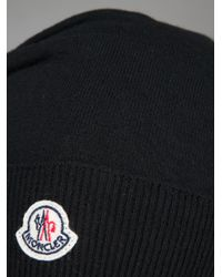 Moncler Black Knitted Beanie
