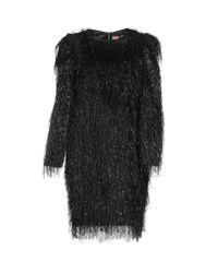 MSGM - Black Short Dress - Lyst