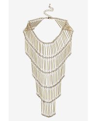 TOPSHOP | Metallic Tiered Beaded Necklace | Lyst
