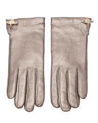 Vivienne Westwood - Gray Metallic Gloves - Lyst